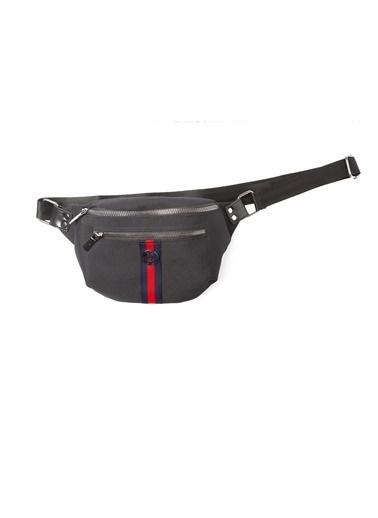 TH Bags TH Bags 2THCW2020014 Suni Deri 2 Bölmeli Unisex El Çantası Siyah